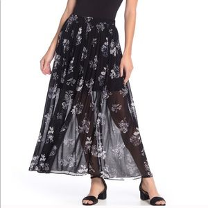 NWT FREE PEOPLE Lydia Maxi Skirt Midnight Combo